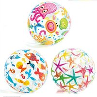aufblasbarer fischball großhandel-Starfish Fisch Wasserball Krake Muster 35 Cm Handball Transparente Bälle Sommer Küste Aufblasbare Hohe Qualität Kreative 3 8pgD1
