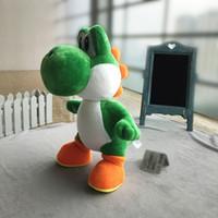 ingrosso bambola verde-33cm grande Super Mario Verde Yoshi della peluche ha farcito il giocattolo verde Yoshi Super Mario peluche verde Yoshi peluche lol