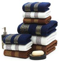 bordado de toalha de banho venda por atacado-Toalha de Banho de algodão 70 * 140 cm Toalha de Mão Toalhas de Banho de Bebê Confortável Absorvente banho Cobertor Bordado Toalhas de Praia Grande GGA2197