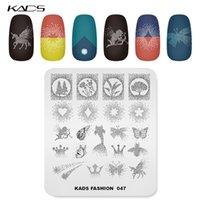 neue nagellack-designs großhandel-KADS New Nail Stamping Platten 16 Designs Fashion Images Platten zum Stempeln von Maniküre-Werkzeug Nail Art Schablonen für Polnisch