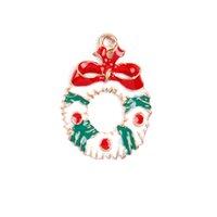 sortierte anhänger anhänger großhandel-Hot 19 Stücke Metalllegierung Verschiedene Weihnachten Charms Set Weihnachtsbaum Schneemann Schmuck Anhänger Decor PLD