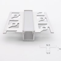 Wholesale tape aluminum resale online - T Channel profile embedded led aluminium profile mm pcb strip tape light flat edge invisible linear channel for wall