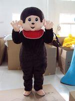 trajes de macaco para adultos venda por atacado-Macaco Mascot Costume MON BUCHI Macaco Dos Desenhos Animados Fancy Dress Animal Adulto Tema Mascotte Traje de Carnaval Traje Outfits