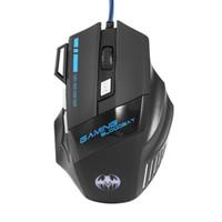 компьютерный корабль падения оптовых-Игровая мышь Проводная компьютерная мышь для Pro Gamer 5500 точек на дюйм 7 кнопок LED USB Оптическая мышь sem fio Перевозка груза падения