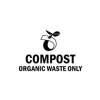hobi evi toptan satış-Kompost Organik Atık Sadece Işareti Ev Dekor Araba Kamyon Pencere Decal Sticker Vinil Hobi Araba Tampon Sticker