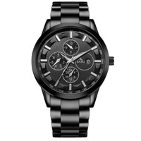 Wholesale watch world time for sale - Brand watch hot style fashionable sports men s steel band watch waterproof alloy wrist watch men s world time calendar hours instruction