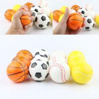 esponja de espuma suave al por mayor-Pelotas de esponja de pelota de béisbol de fútbol y baloncesto de fútbol 6.3 cm Pelota de espuma de PU Fidget Relief Toys Novedad Juguetes deportivos para niños GGA1868