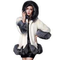 Wholesale mink skirts online - Women Faux Fur Coat Winter New Design Imitation Fox Fur Coat Mink Europe Luxury Women Long Skirt Style Faux Fur Coat Re0182