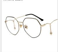 18a8515039 Wholesale korean spectacles frame online - Polygonal spectacle frame and  star chain pendant flat lens Korean