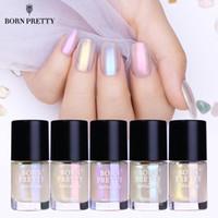 bonitas conchas al por mayor-NACIDO PRETTY Shell Glitter Nail Polish 9ml Transparent Glimmer Laca brillante Barniz Manicura Nail Art Polish