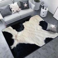 halı halıları toptan satış-Yaratıcı 3D Leopar / Zebra / İnek / Kaplan baskılı Hayvan Kürk kilim Oturma Odası Alan Kilim Halı tapetes için Mat