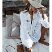 seksi örgü elbisesi toptan satış-Kadınlar Casual Püskül Dantel Seksi Dantel Kimono Bluz Coat Casual Uzun Hırka Plaj Bikini Hollow Kapak-Up Elbiseler Mesh Mayo Mayo