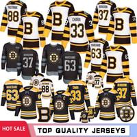 camisetas de hockey de boston al por mayor-33 Zdeno Chara Boston Bruins Hockey jerseys 63 Brad Marchand 37 Patrice Bergeron 88 David Pastrňák 4 Bobby Orr Hombres 2019 Nuevo