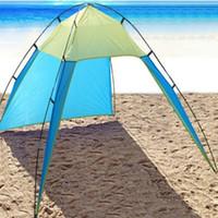 toldo libre al por mayor-Al aire libre Ultraligero Playa de arena libre Tienda de campaña Protección solar Protección UV Pesca Refugio solar Anti-UV Toldo Gazebo para picnic