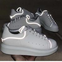 partiler erkekler için başında toptan satış-En Tasarımcı Ayakkabı GRI Parlaklık Platformu Ayakkabı Erkek Eğitmenler Beyaz Deri Düz Rahat Parti Düğün Ayakkabı Süet Spor Sneakers ABD 11