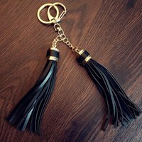 Wholesale Creative Cute Colorful Tassel Keychain Keyring Acrylic Beads Silver Color Ring Lobster asp Car Key Bags Pendant Llavero
