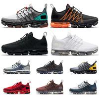 kentsel spor ayakkabıları toptan satış-2019 nike air vapormax run utility yardımcı koşu ayakkabıları erkekler için üçlü siyah beyaz TROPICAL TWIST kırmızı CELESTIAL TEAL erkek eğitmen nefes spor sneakers