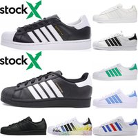 super fashion hommes achat en gros de-Superstar originale blanc irisé Hologram junior Superstars Chaussures Casual Super Star Femmes Hommes Femmes Tennis fashion en cuir chaussures