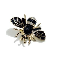 ingrosso spilla nuova lega-New Lovely Strass Animal Spilla Lega Vintage Gioielli Moda Insetto ape Spille per le donne Uomini regalo del partito