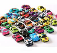 ônibus de brinquedos venda por atacado-Puxar para Trás Dos Desenhos Animados Car Toys Car ABS Crianças Carro De Corrida Do Bebê Mini Carros Dos Desenhos Animados Puxar Para Trás Ônibus Caminhão Crianças Brinquedos Para Presente Das Crianças