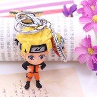 zincir sıcak kız çocuğu toptan satış-2019 Sıcak Yeni Naruto Anahtarlık Sasuke / itachi / Kakashi Kadınlar Veya Erkekler Anahtarlık kolye Anime Çizgi Anahtarlık Boys Ya kızlar Yüzük