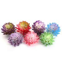 Wholesale miniature plastic flowers resale online - New Fake Plant Artificial Succulents Plant Plastic Miniature Fake Cactus DIY Home Garden Office Floral Decorative Flower