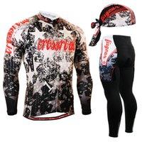 chaquetas de jersey de ciclismo al por mayor-Juego de ciclismo de manga larga Life on Track, cómodo, con cremallera completa, tops de chaqueta, chaqueta con parte inferior acolchada, bicicleta de ciclismo MTB # 736434