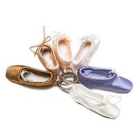 подвески для балетной обуви оптовых-Танцевальные Подарки Балетная обувь Key Chain Мини обуви Балетные брелок сатин Pointe Ключевые Holder танцевальная обувь автомобиля сумка Шарм подвеска
