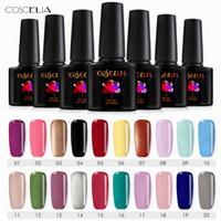 nuevos diseños de esmalte de uñas al por mayor-Nail Art Design Manicure COSCELIA 40Color 8Ml Soak Off Esmalte Gel Polish LED UV Gel Laca de esmalte 2018 Nuevo envío gratis