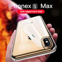iphone transparente schale großhandel-Für IPhone 6 7 8 Plus Transparent Acryl TPU Zwei-in-One-Shell XS Max XR Vier-Ecke Für IPhone 11 Pro Max Fall