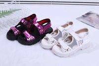 remaches de gancho al por mayor-Verano nuevas mujeres sandalia remache estrellas Hook Loop sandalias deportivas casuales moda mujeres zapatos abiertos dedos de los pies