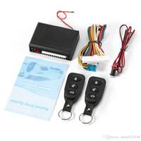 kit de télécommande 12v achat en gros de-Voiture à distance Système sans clé Verrouillage centralisé Verrouillage centralisé avec télécommande de voiture Systèmes d'alarme à distance automatique Kit Central