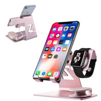 Wholesale cell phone charging stations online – 3 In Charging Holder Metal Stand Dock Station for Apple Watch Series Cell Phone Tablet Stand for Iphone X XS Xr pro Max