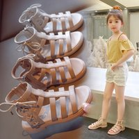 Wholesale high cut shoes for kids resale online - AAdct summer girls sandals new fashion princess little kids sandals for girls soft sole children Rome shoes High cut Luxury designer