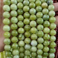 4 6 8 10 12mm Round Natural Southern Jade Stone Beads DIY Loose Green Jade Beads For Jewelry Making Bracelet Strand 15''