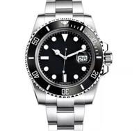relojes de pulsera al por mayor-De lujo de cerámica Bisel 2813 Mens mecánico automático Movimiento SS reloj de manera Deportes diseñador mismo-viento Relojes de pulsera btime
