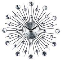 metal, relógios, paredes venda por atacado-Relógio de Parede de Arte de metal Do Vintage de Luxo Diamante Grande Relógio de Parede Orologio Da Parete Relógio Morden Design Home Decor Wandklok