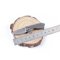 сложенные металлические ножи оптовых-Дамаск лезвие стали каждый день EDC карманный нож HY002 для выживания кемпинг открытый механизм складной kinfe в целом металлический корпус