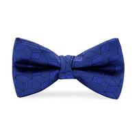 niños corbatas de lazo azul al por mayor-Hi-Tie Kids Blue Plaid Bow Ties Niños Accesorios de ropa para niños Accesorios de vestidos de boda Bowties LH-065