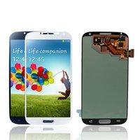 marco de pantalla i545 al por mayor-Reemplazo de Super Amoled LCD 100% probado para Samsung galaxy S4 i9500 i9505 i337 i545 Pantalla con ensamblaje de digitalizador de pantalla táctil Sin marco
