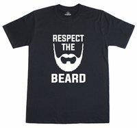 обычные женские майки оптовых-Hipster Respect The Beard Regular Fit Смешные Мужские Футболки 3 Мужские Женщины Мужская Мода футболка Бесплатная Доставка Смешно