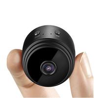 batterie-monitor-kameras großhandel-Verbesserte A9 4K HD Wi-Fi Mini-Kamera Super 10m Nachtsicht ultra-kleine Kamera Telefon drahtlose Fernüberwachung eingebaute Batterie