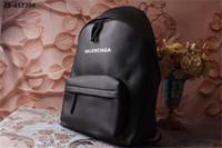 ingrosso pelle dello zaino-Zaino di design Zaino in pelle Zaino di design di lusso nero con cinturino di alta qualità di stile di arrivo caldo di qualità comoda Nuovo