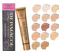 ingrosso base dermacol-Vendita calda DERMACOL Concealer Foundation Make Up Cover 14 colori Primer DC Concealer Base Professional Viso Makeup Base Contour