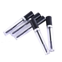 Wholesale clear plastic containers caps for sale - Group buy 1PCS ml Plastic Clear Empty Mascara Tube Vial Bottlev Container For Eyelash Growth Medium Mascara With Black Cap