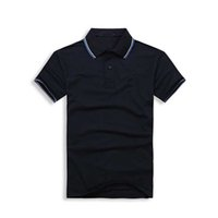 orange polo brauch großhandel-Männer Shorts Ärmel Polo Shirts Beliebte Stickerei Weizen Polos Benutzerdefinierte Designer Dress Shirts Einfarbig T-shirt