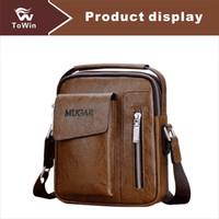 bandolera de microfibra al por mayor-Brand New Designer Crossbody Bags Men Luxury Briefcases Messenger Bag Microfiber Leather Business Bolso de hombro Bolso ocasional