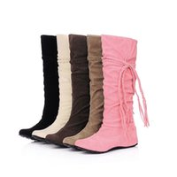 Wholesale heels boots 43 for sale - Group buy Women Knee High Heel Boots for Girl Platform Winter Boots Tassel Cute Snow Boots Big Size