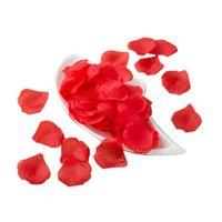 ingrosso petali di rosa rossa artificiali-Decorazioni di petali di rosa rossa artificiale di seta artificiale realistica di 1/5 / 10pcs per la festa nuziale @ 1
