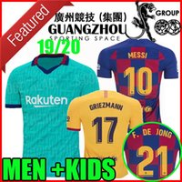 19 20 GRIZEMANN F.DE JONG barcelona soccer jerseys home away messi 2019 2020 camisetas de fútbol حارس المرمى رجال أطفال قمصان كرة القدم